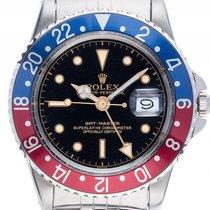Rolex GMT Master PCG rot blau Pepsi Stahl Automatik Armband...