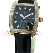 Michele Urban Mini, Black Diamond Dial, Diamond Bezel - Yellow...