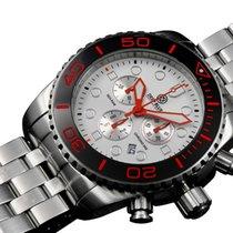 Deep Blue Sea Ram 500 Chrono Diving Watch Swiss Blk/org Bezel...