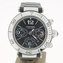 Cartier Pasha Seatimer Steel/Rubber Chrono BlackDial (B&P2...