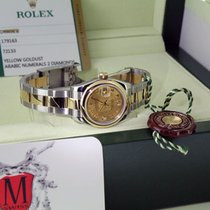 Rolex Lady Datejust on Oyster Bracelet - Yellow Gold Dust Pearl
