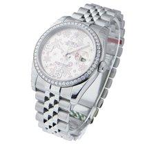 Rolex Unworn 116244pfaj Mens Datejust with Diamond Bezel -...