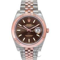 ロレックス (Rolex) Datejust 41 Chocolate/Rose gold 41mm - 126301