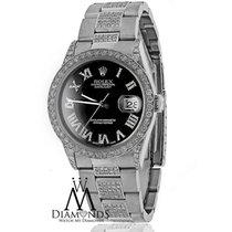 Rolex Diamond Rolex Datejust 36mm Stainless Steel Oyster...