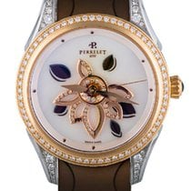 Perrelet Diamond Flower 18K Rose Gold & Stainless Steel...