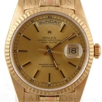 Rolex 18kt Yellow Gold Day-Date (President) Champagne Dial