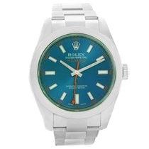 ロレックス (Rolex) Milgauss Blue Dial Green Crystal Mens Watch...