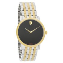 Movado Red Label Museum Mens Two Tone Swiss Automatic Watch...