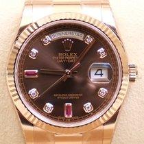 Rolex Day Date, Ref. 118235 - braun Rubin Diamant ZB/Präsident...