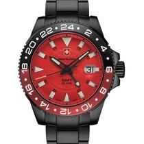 Swiss Military Cx Swiss Military Gmt Nero Swiss 42mm Watch Pvd...