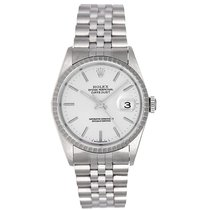 Rolex Datejust Stainless Steel Men's Watch 16220 Silver Dial
