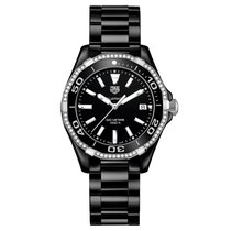 TAG Heuer Aquaracer Quartz Black Ceramic Diamond Bezel 300M 35mm