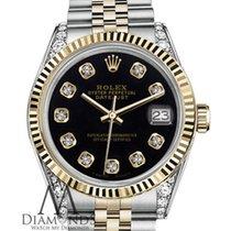 Rolex Woman's Rolex 36mm Datejust 2 Two Tone Black Color...