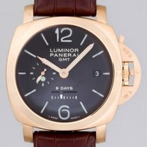 Panerai PAM00289 Luminor 1950 8 Days GMT Rose Gold 44mm NEW...