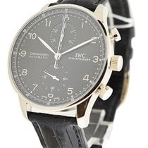 IWC IW371413 Portuguese Chrono Automatic - White Gold on Strap...