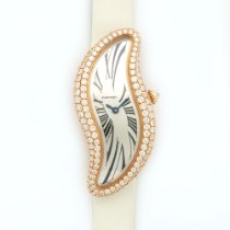 Cartier Rose Gold Baignoire S Crash Diamond Watch