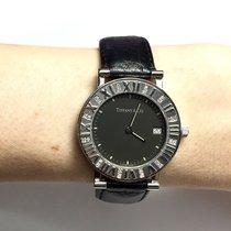 Tiffany & Co. Atlas Ss Ladies Watch W/ Diamonds Tiffany...