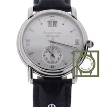 Maurice Lacroix Masterpiece 38mm Silver Dial Crocodile Strap NEW