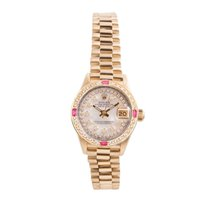 Rolex Ladies 18K Gold President - MOP String Diamond Dial -...