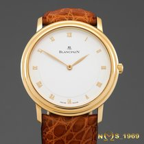 Blancpain Villeret 18K Gold Ultra Slim 34 mm Display  Back