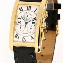 Cartier Tank  Américaine Chronoreflex 18K Gold Jumbo-Chronograph