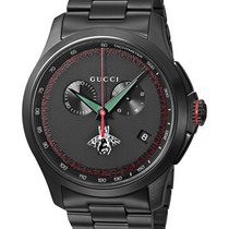 Gucci Men's Swiss Quartz Black Metal  Watch