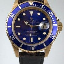 Ρολεξ (Rolex) Submariner Oro/Pelle Ref:16618