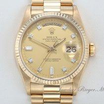 Rolex DAY DATE GELBGOLD 750 DIAMANTEN 18038 AUTOMATIK 36mm...