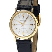 Eterna -Matic Centenaire 14K Gold Watch - Beige Dial - Leather