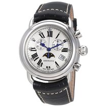Aerowatch 1942 Chronograph Moonphase Silver Dial Swiss Made...