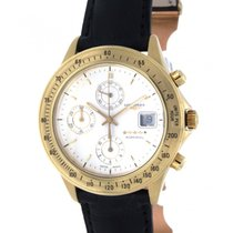 Longines Admiral Chronograph 44777.07 Yellow Gold, Leather, 40mm