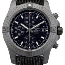 Breitling Colt Chronograph 44 Black Fabric Band Auto Watch...