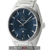 Omega Constellation Globemaster 39mm Stainless Steel Blue...