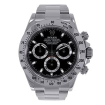 Rolex DAYTONA Stainless Steel Watch Black Dial Box/Papers