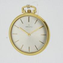 ゼニス (Zenith) solid 18K Yellow Gold Pocket Watch Ultra Flat...