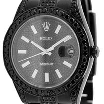Rolex Datejust II 41mm Black PVD Custom Watch 116300