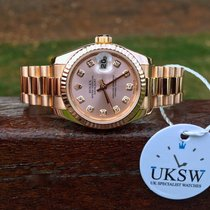 Rolex Datejust Ladies 18ct Rose Gold – Pink Diamond Dial – 179175