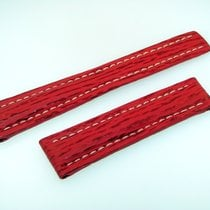 Breitling Band 19mm Red Roja Shark Strap Correa Ib19-16