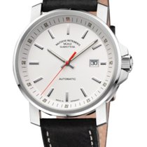 Mühle Glashütte 29er Big Steel Case-White Dial-Leather Strap...