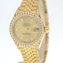Rolex Datejust 69138 Womens 18K Yellow Gold Automatic Watch...