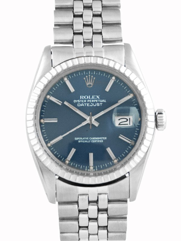 26b93678de64 Rolex Datejust Vintage 1979 Stainless Steel Blue Dial - 16030 for Rs.  273