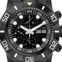 Nauticfish Waterwall Chronograph 2000M Stahl Black PVD...