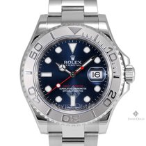 Rolex Yacht-Master Steel and Platinum Blue Dial Platinum 60min...