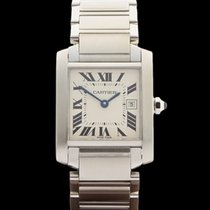 Cartier Tank Francaise Stainless Steel Ladies 2465 or W51011Q3...