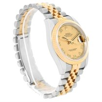 Rolex Datejust Steel 18k Yellow Gold Roman Dial Watch 116233