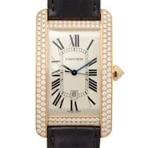 卡地亚 (Cartier) Tank 18 K Rose Gold With Diamonds Silver...