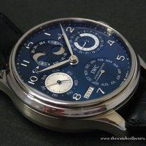 IWC : Rare Portugeiser White Gold Perpetual Calendar Blue Dial...