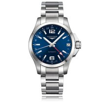 Longines Conquest Chronograph Stainless Steel Blue Automatic...