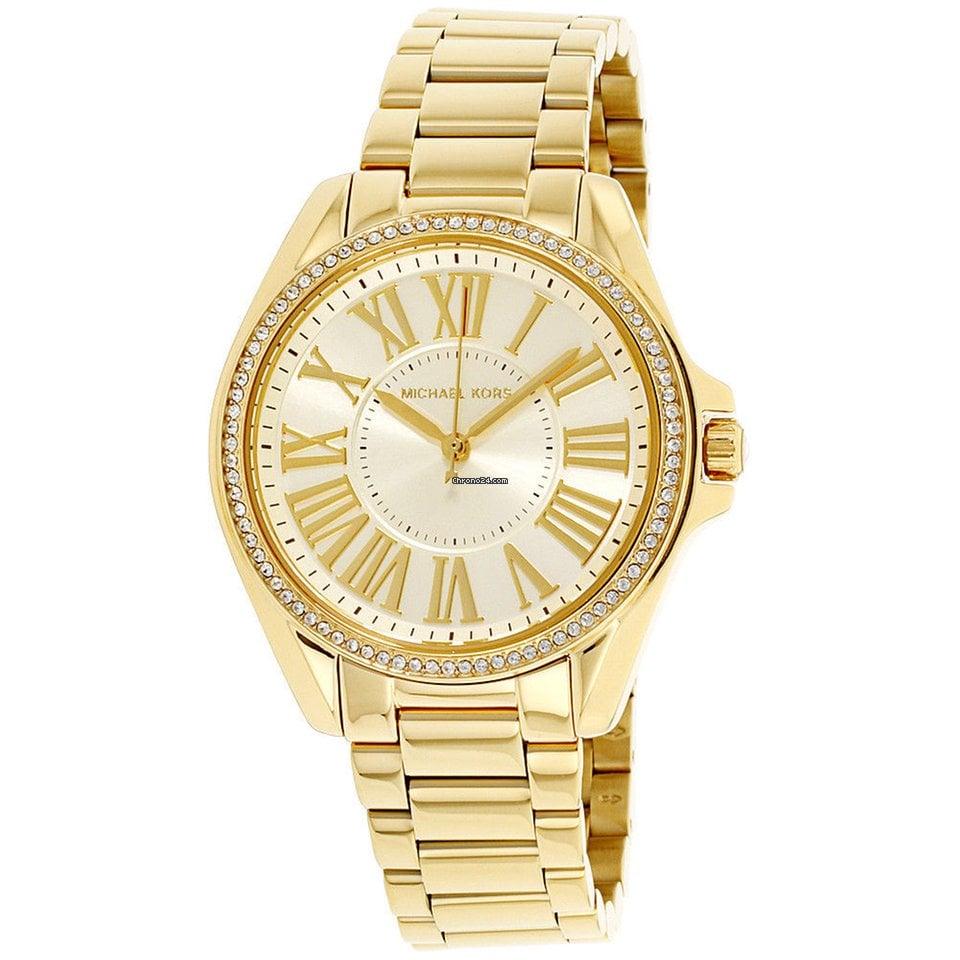 629deff729a Michael Kors Kacie Gold Dial Stainless Steel Ladies Watch Mk6184 por R  580  para vender por um Seller na Chrono24