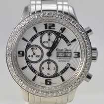 Ernst Benz Chrono-Jewel Stainless 47 mm Chronograph Diamond Bezel